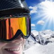 Skier in high mountains — Stock Photo #57724147