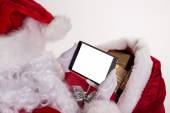 Photo of Santa Claus with tablet. — Stockfoto