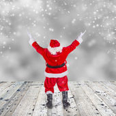 Santa Claus with upraise middlefingers. — Photo