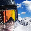 Snowboarder in high mountains — Stock Photo #58727647