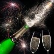 Champagne explosion on black background — Stock Photo #58728243