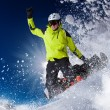 Snowboarder in high mountains — Stock Photo #59484087