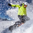 Snowboarder in high mountains — Stock Photo #59805499