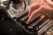 Starý psací stroj vinobraní — Stock fotografie