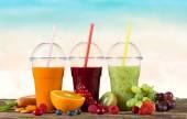 Fresh juice mix fruit — Stock Photo