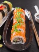 Sistema del sushi japonés mariscos — Foto de Stock