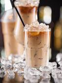 Ice coffee on bar desk — Foto de Stock