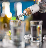 Snifters on bar desk — Stock Photo