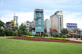 Modern buildings in a center of Ho Chi Minh City — Stock Photo