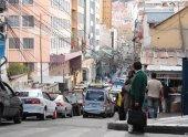 Transport and Traffic jam in La Paz, Bolivia — Foto Stock