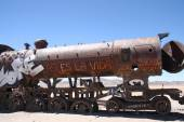 Old train in Uyuni, Bolivia — Stock fotografie