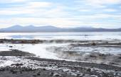 Geothermal hot water lake in Andes — Stock Photo