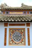 Abstract symbol in a confucius temple in Vietnam — Stock Photo