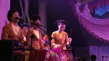 Show of Water Puppets in Ha Noi Thang Long Theater — Stock Video