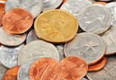 Dollar coins — Stock Photo