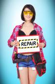 Clipboard with repair — Stock Photo
