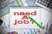 Drawing need a job — Stock Photo