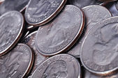 Quarter US coins — Stock Photo
