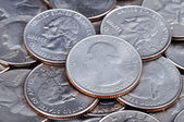 US cent coins — Stock Photo