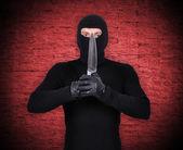 Man holding knife — Stock Photo