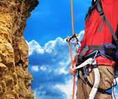 Man climbing — Stock Photo