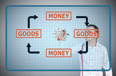 Goods and money — Stock Photo