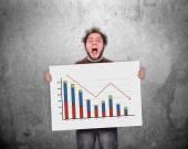 Decreasing chart — Stock Photo