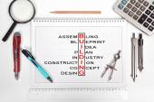 Building crossword — Stock Photo