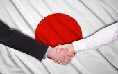 Japan flag — Stock Photo
