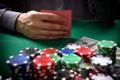 Man playing in poker — Stock Photo