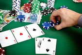 Poker game concept — Stock Photo