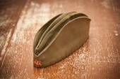 Victory Day on May 9. Garrison cap with a red star. Retro style. 70 Years of Victory — Foto de Stock