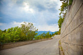 Landscape of Crimea, empty road — Stock Photo