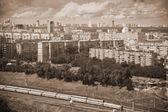 Moskva - městské krajiny, historické části města. Foto v sépie tónovaný — Stock fotografie
