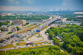 Moscow River. Moscow - city landscape, the Third Ring Road. Life of the big city — Foto Stock
