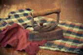 Vintage metallic iron, old iron. — Stock Photo