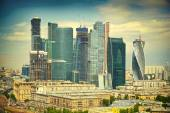 Moscow skyline and business center Moscow-City. — Stock Photo