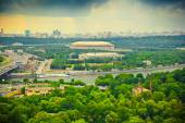 Moscow River, Luzhniki sports complex — Stock Photo