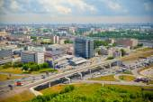 Moscow - a city landscape. Modern buildings and roads — Stockfoto