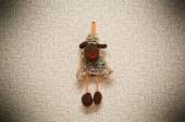 Toy sheep - a symbol of New Year 2015 — Foto Stock