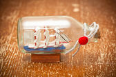 Ship in a bottle — Stock Photo