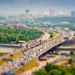 Downtown Moscow. Third Ring Road with cars, Moscow river. — Stock Photo #64916915