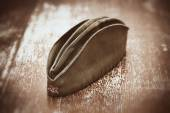Soldier's forage cap during the Second World War — Stockfoto