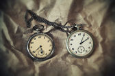 Two vintage mechanical watches — Fotografia Stock
