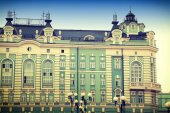 Historic building in Moscow Kopevskom alley. Auxiliary building of the Bolshoi Theatre. — Stock fotografie