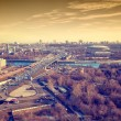 "View of Moscow: Third Ring Road, the river Moscow, sports complex ""Luzhniki"". — Stock Photo #67528959"