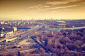 "View of Moscow: Third Ring Road, the river Moscow, sports complex ""Luzhniki"". — Stock Photo"