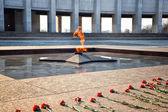 Eternal Flame - symbol of victory in World War II. Poklonnaya Gora, Victory Park, Moscow, Russia — Stock Photo