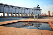 Eternal Flame - symbol of victory in World War II. Poklonnaya Gora, Victory Park, the Museum of the Great Patriotic War, Moscow, Russia — Stockfoto