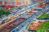 Mosca - 25 giugno: Costruzione di una nuova linea della metropolitana in zona Ramenky. Russia, Mosca, 25 giugno 2014 — Foto Stock